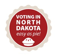 Voting in North Dakota : Easy as Pie!